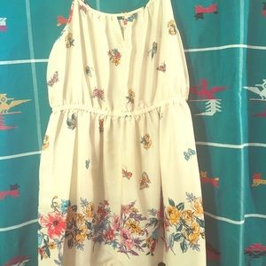 1X Forever21 Butterfly Floral Tunic tank